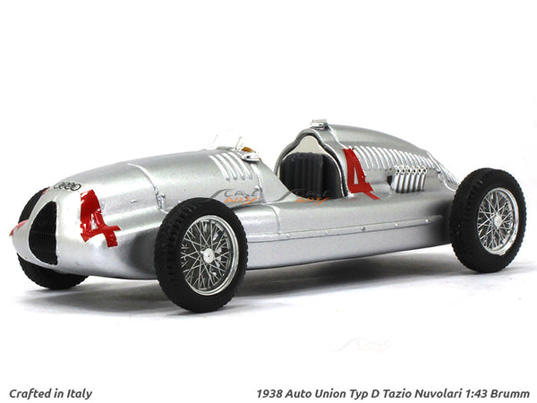 1938 Auto Union Typ D Tazio Nuvolari 1:43 Brumm diecast Scale Model Car