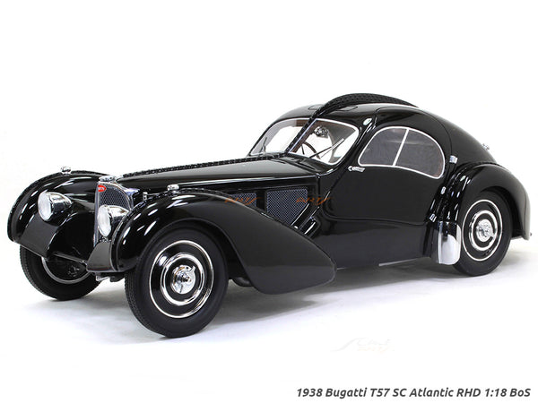 1938 Bugatti T57 SC Atlantic RHD 1:18 BoS scale model car