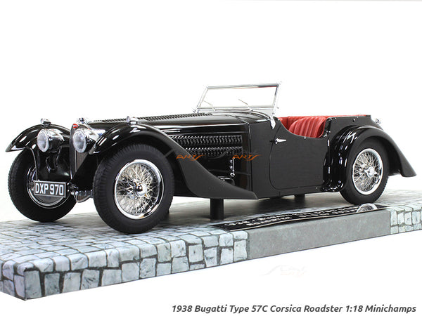 1938 Bugatti Type 57C Corsica Roadster 1:18 Minichamps diecast scale model car