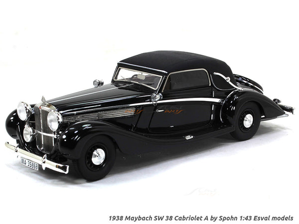 1938 Maybach SW 38 Cabriolet A by Spohn 1:43 Esval models scale model car