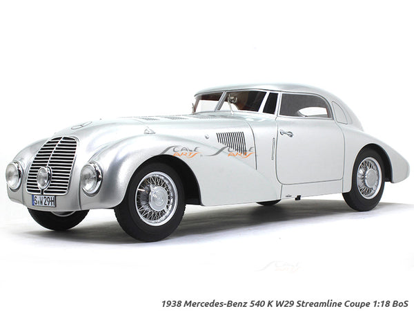 1938 Mercedes-Benz 540 K W29 Streamline Coupe 1:18 BoS scale model car