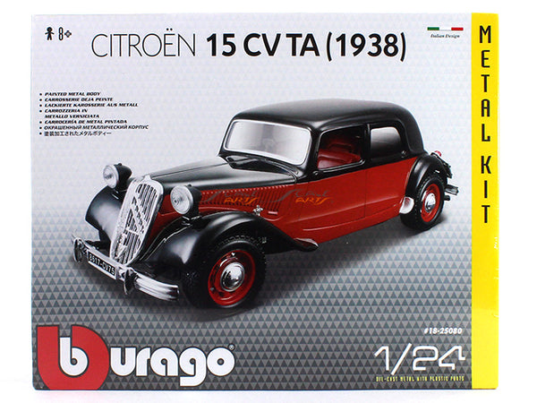 1938 Citroen 15 CV TA 1:24 Bburago Model Kit car diecast scale model