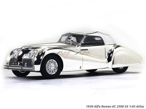 1939 Alfa Romeo 6C 2500 SS chrome 1:43 Atlas diecast scale model car
