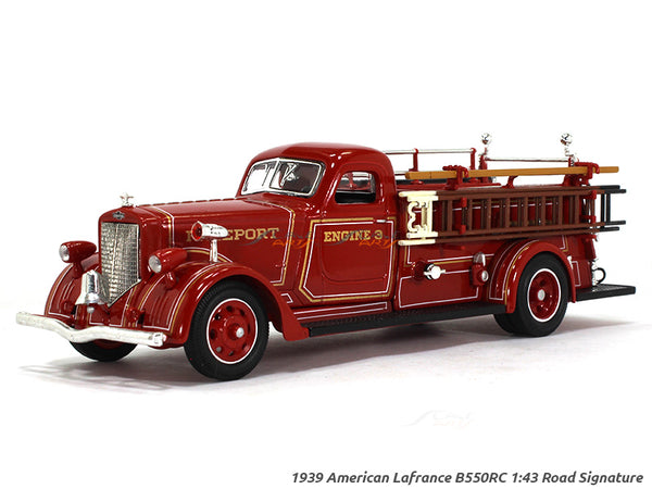 1939 American Lafrance B550RC Fire engine 1:43 Road Signature Yatming diecast scale model truck