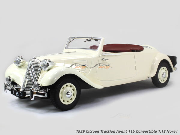 1939 Citroen Traction Avant 11b Convertible 1:18 Norev scale diecast model hobby car