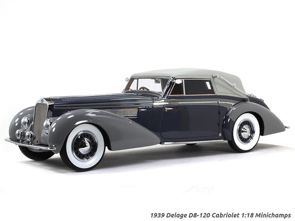 1939 Delage D8-120 Cabriolet 1:18 Minichamps scale model car