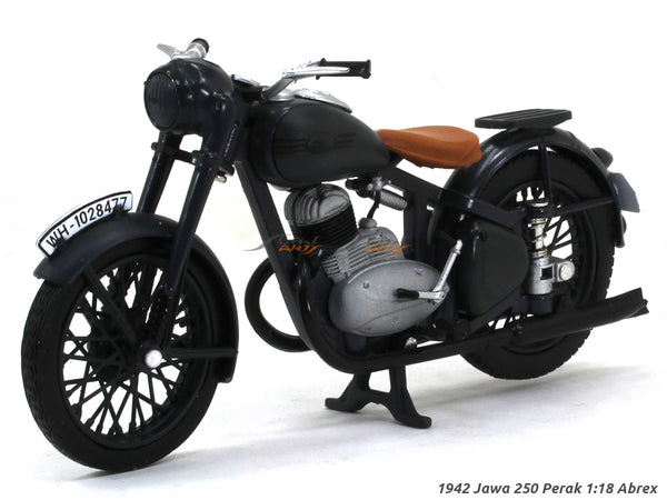 1942 Jawa 250 Perak dark gray 1:18 Abrex diecast Scale Model Bike