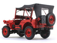 1942 Willys Jeep fire 1:18 Norev diecast scale model car