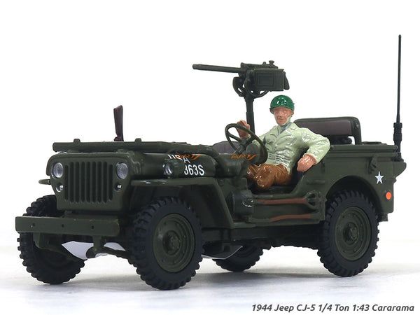 1944 Jeep CJ-5 1/4 Ton US Army 1:43 Cararama diecast Scale Model Car