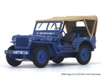 1944 Jeep CJ-5 1/4 Ton RAF 1:43 Cararama diecast Scale Model Car