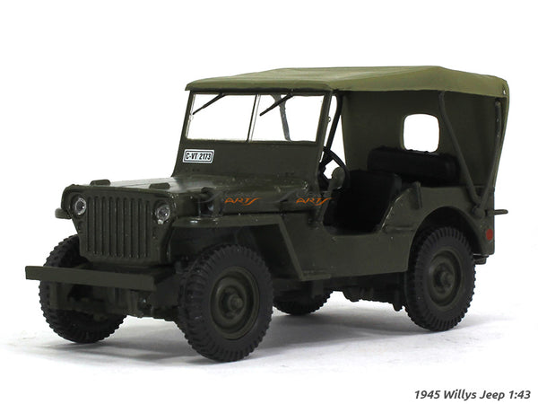 1945 Willys Jeep 1:43 diecast scale model car