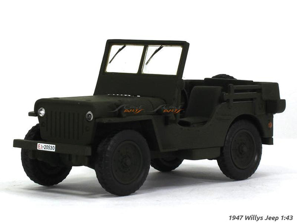 1947 Willys Jeep 1:43 DeAgostini diecast scale model car
