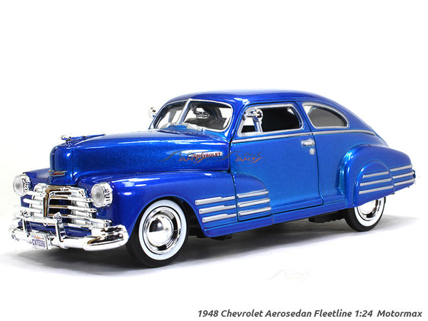 1948 Chevy Aerosedan Fleetline 1:24 Motormax diecast scale model car