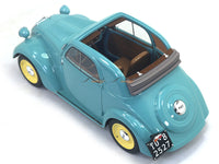1948 Fiat 500 B Topolino Trasformabile blue 1:18 Laudoracing Scale Model car