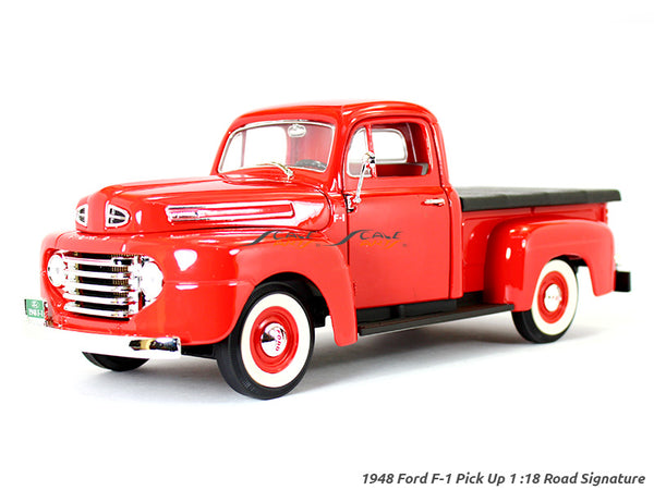 1948 Ford F-1 Pickup with Flatbed cover red 1:18 Road Signature Yatming diecast scale model car