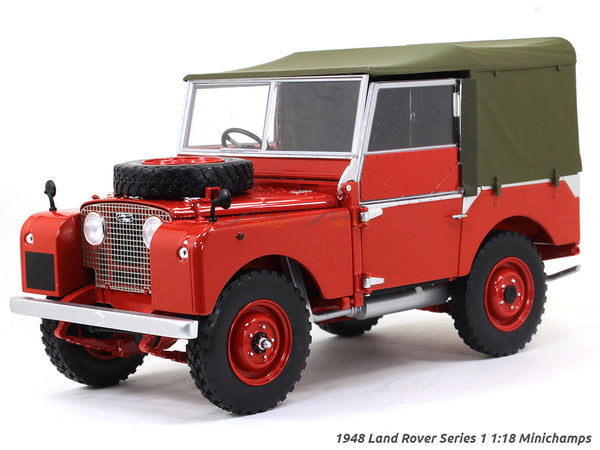 1948 Land Rover Series 1 red 1:18 Minichamps diecast scale model car