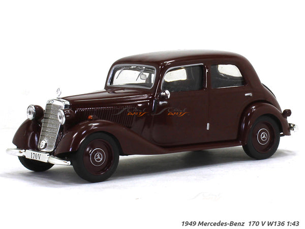 1949 Mercedes-Benz 170V W136 1:43 diecast Scale Model Car