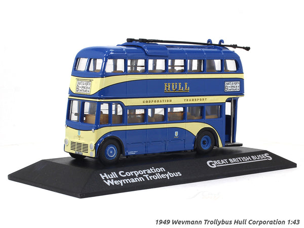 1949 Wevmann Trollybus Hull Corporation 2 1:76 Atlas diecast scale model bus