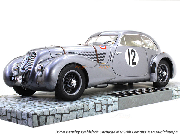 1950 Bentley Embiricos Corniche #12 24h LeMans 1:18 Minichamps diecast scale model car