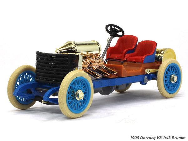 1905 Darracq V8 World Speed Record 1:43 Brumm diecast Scale Model Car