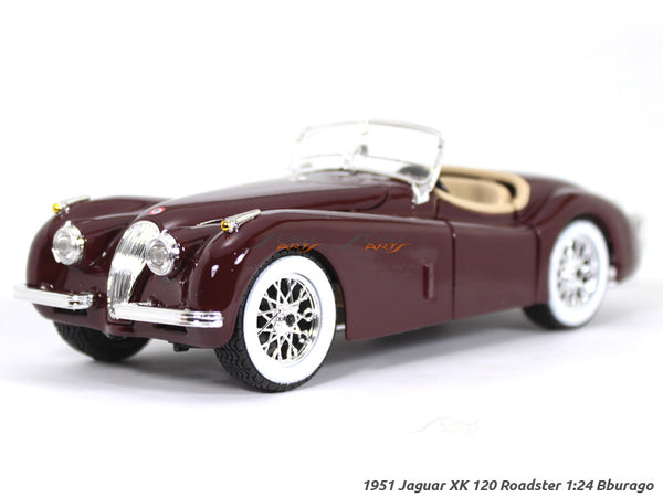 1951 Jaguar XK 120 Roadster 1:24 Bburago diecast Scale Model car