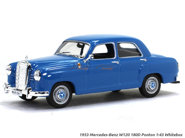 1953 - 62 Mercedes-Benz 180 Ponton W120 1:43 diecast Scale Model Car