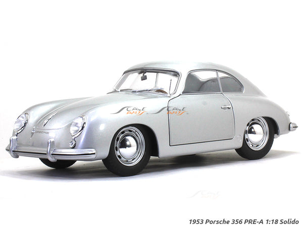 1953 Porsche 356 PRE-A silver 1:18 Solido diecast Scale Model Car