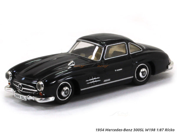 1954 Mercedes-Benz 300SL W198 black 1:87 Ricko HO Scale Model car