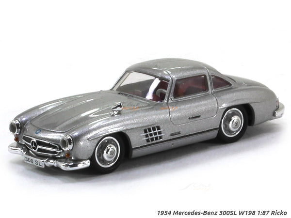 Mercedes-Benz 300SL W198 silver 1:87 Ricko HO Scale Model car