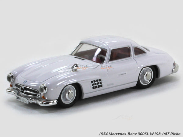 1954 Mercedes-Benz 300SL W198 white 1:87 Ricko HO Scale Model car