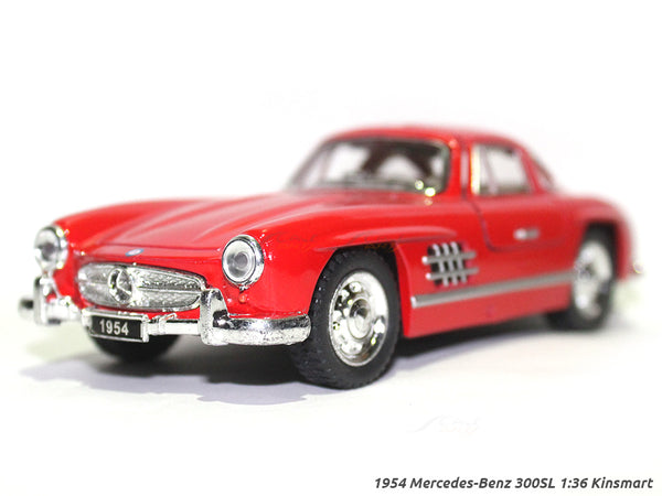 1954 Mercedes-Benz 300SL red 1:36 Kinsmart diecast scale model Car