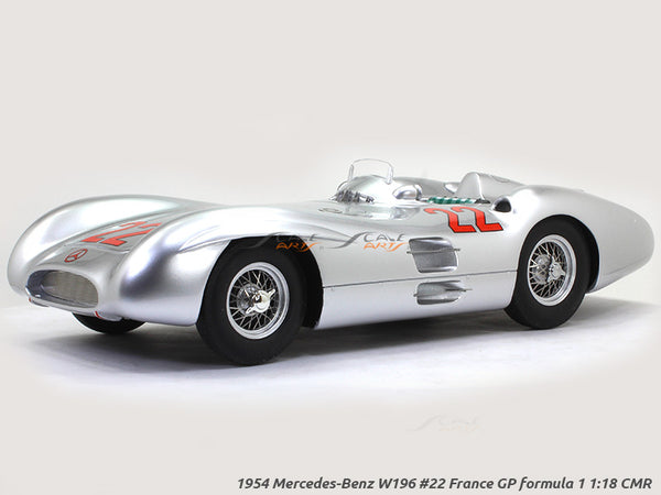 1954 Mercedes-Benz W196 #22 France GP formula 1 1:18 CMR diecast Scale Model Car