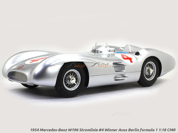 1954 Mercedes-Benz W196 Stromlinie #4 Winner Avus Berlin formula 1 1:18 CMR diecast Scale Model Car