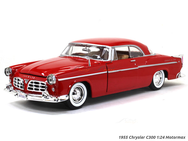 1955 Chrysler C300 red 1:24 Motormax diecast scale model car