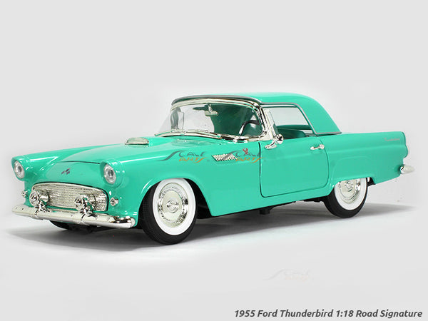 1955 Ford Thunderbird green 1:18 Road Signature Yatming diecast scale model car