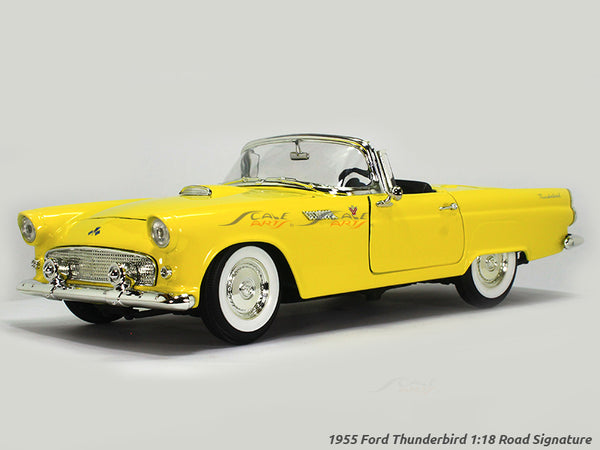 1955 Ford Thunderbird yellow 1:18 Road Signature Yatming diecast scale model car
