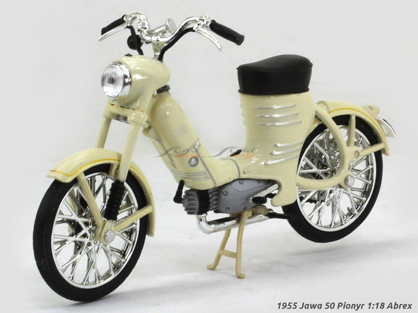 1955 Jawa 50 Pionyr ivory 1:18 Abrex diecast Scale Model Bike