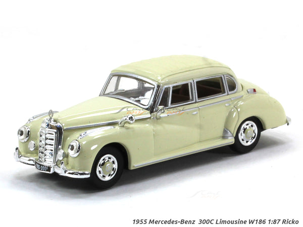 1955 Mercedes-Benz  300C Limousine W186 1:87 Ricko HO Scale Model car