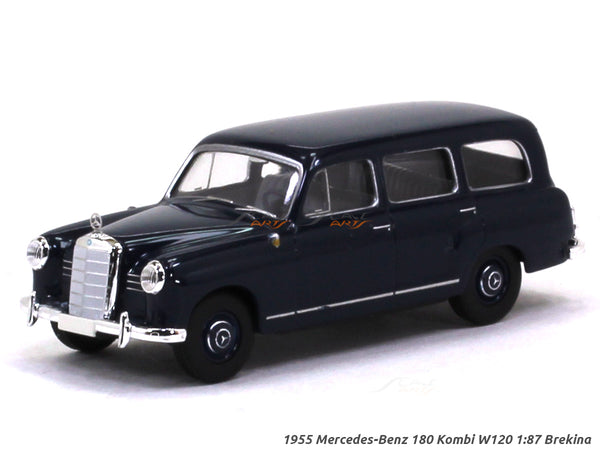 1955 Mercedes-Benz 180 Kombi W120 blue 1:87 Brekina HO Scale Model car