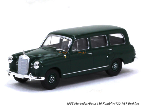 1955 Mercedes-Benz 180 Kombi W120 green 1:87 Brekina HO Scale Model car