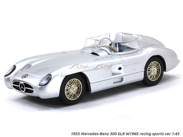 1955 Mercedes-Benz 300 SLR W196S racing sports car 1:43 diecast Scale Model Car