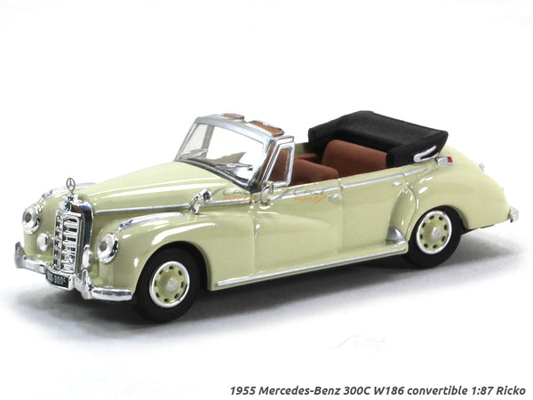 1955 Mercedes-Benz 300C W186 convertible 1:87 Ricko HO Scale car