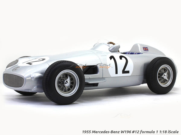 1955 Mercedes-Benz W196 #12 formula 1 1:18 iScale diecast scale model car