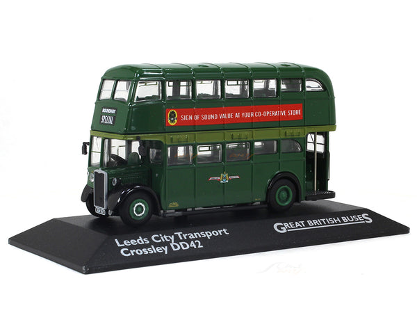 1955 Crossley DD42 Leeds City Transport 1:76 Atlas diecast scale model bus