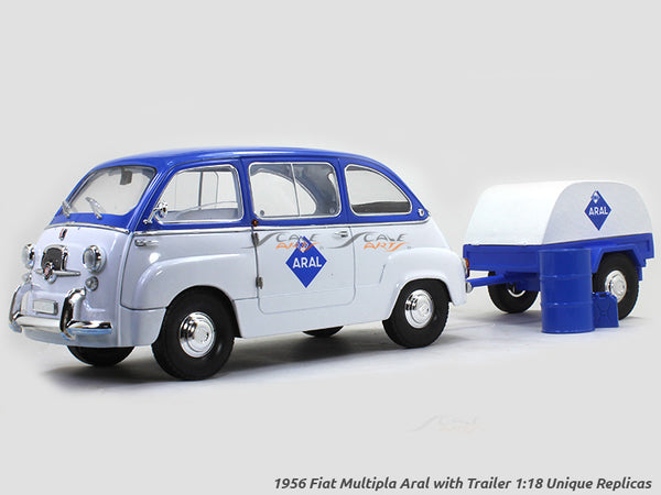 1956 Fiat Multipla Aral with Trailer 1:18 Unique Replicas diecast Scale Model car