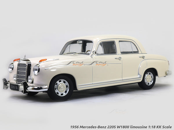 1956 Mercedes-Benz 220S W180II limousine beige 1:18 KK Scale diecast model car
