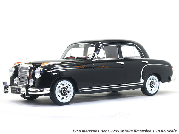 1956 Mercedes-Benz 220S W180II limousine black 1:18 KK Scale diecast model car