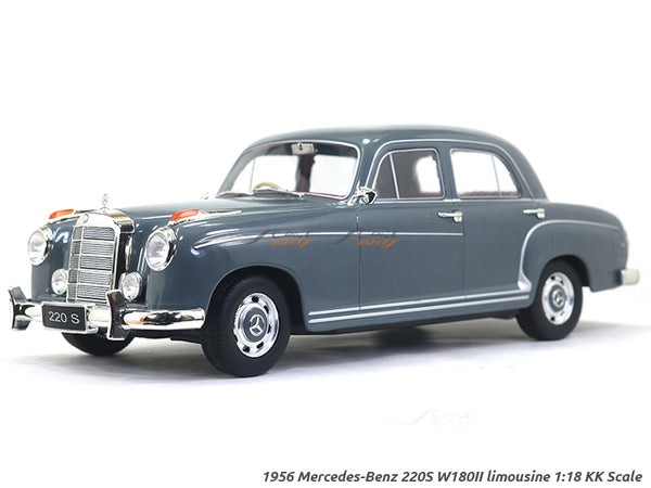 1956 Mercedes-Benz 220S W180II limousine gray 1:18 KK Scale diecast model car