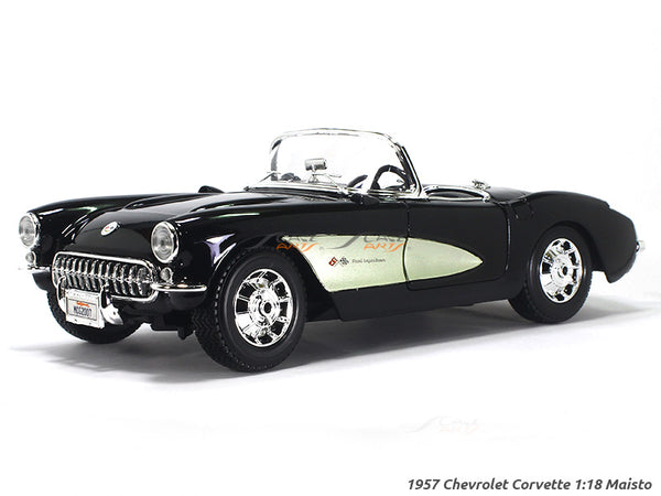 1957 Chevrolet Corvette Black 1:18 Maisto diecast Scale Model car