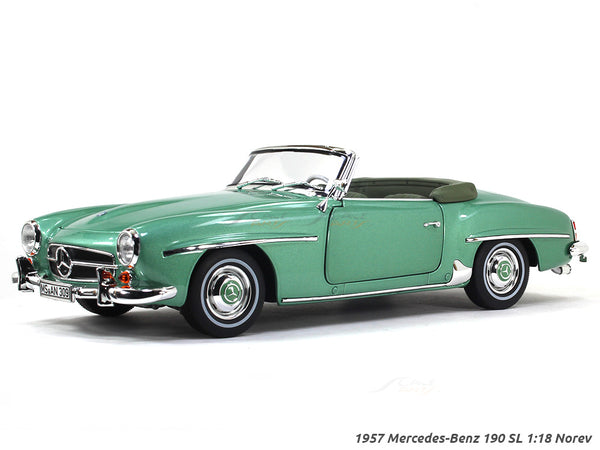1957 Mercedes-Benz 190 SL green 1:18 Norev diecast Scale Model car